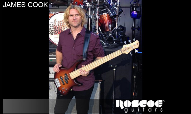 Roscoe guitars endorser James Cook