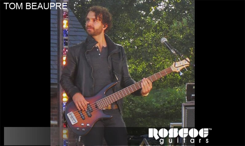 Roscoe guitars endorser Tom Beaupre